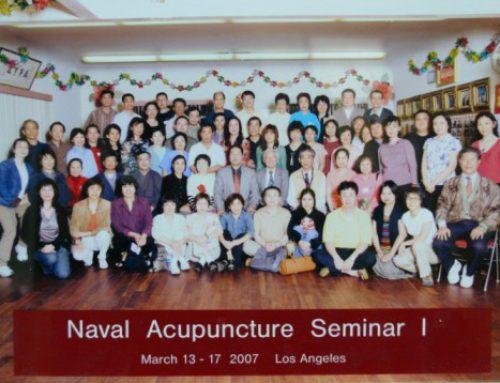 臍針研習班第一期學員攝於洛杉磯